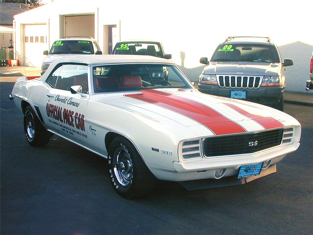 1969 CHEVROLET CAMARO INDY PACE CAR CONVERTIBLE - Front 3/4 - 24150