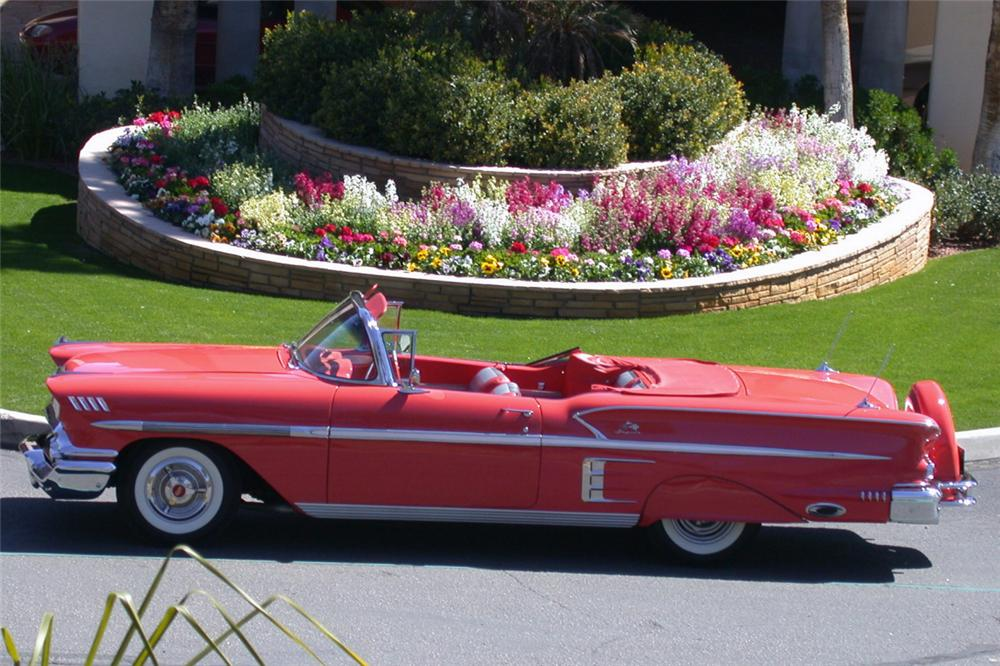 1958 CHEVROLET IMPALA CONVERTIBLE - Front 3/4 - 24191