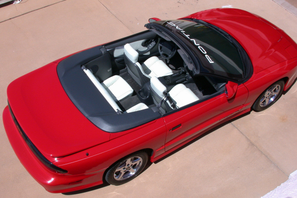 1997 PONTIAC FIREBIRD TRANS AM CONVERTIBLE - Rear 3/4 - 24192
