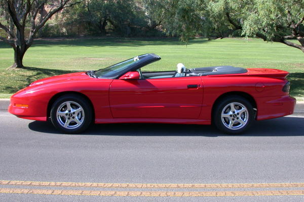 1997 PONTIAC FIREBIRD TRANS AM CONVERTIBLE - Side Profile - 24192