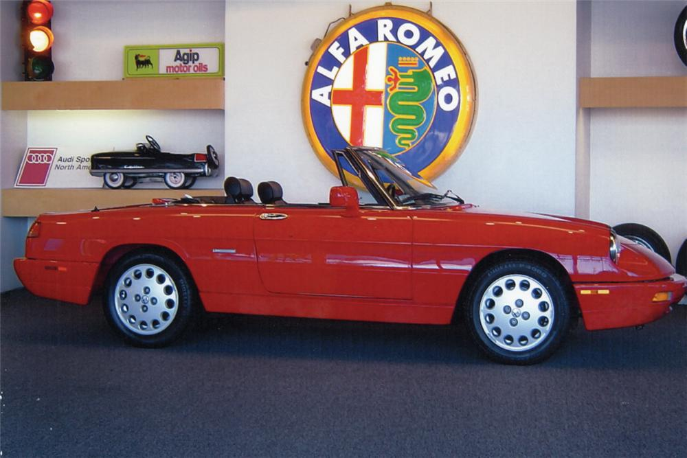 1993 ALFA ROMEO VELOCE SPIDER CONVERTIBLE - Side Profile - 24194