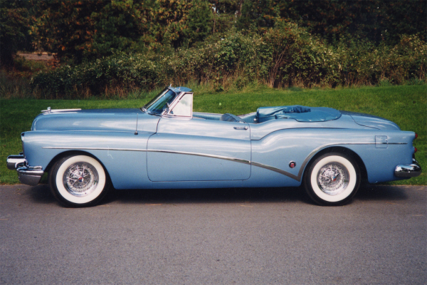 1953 BUICK SKYLARK CUSTOM CONVERTIBLE - Side Profile - 24199