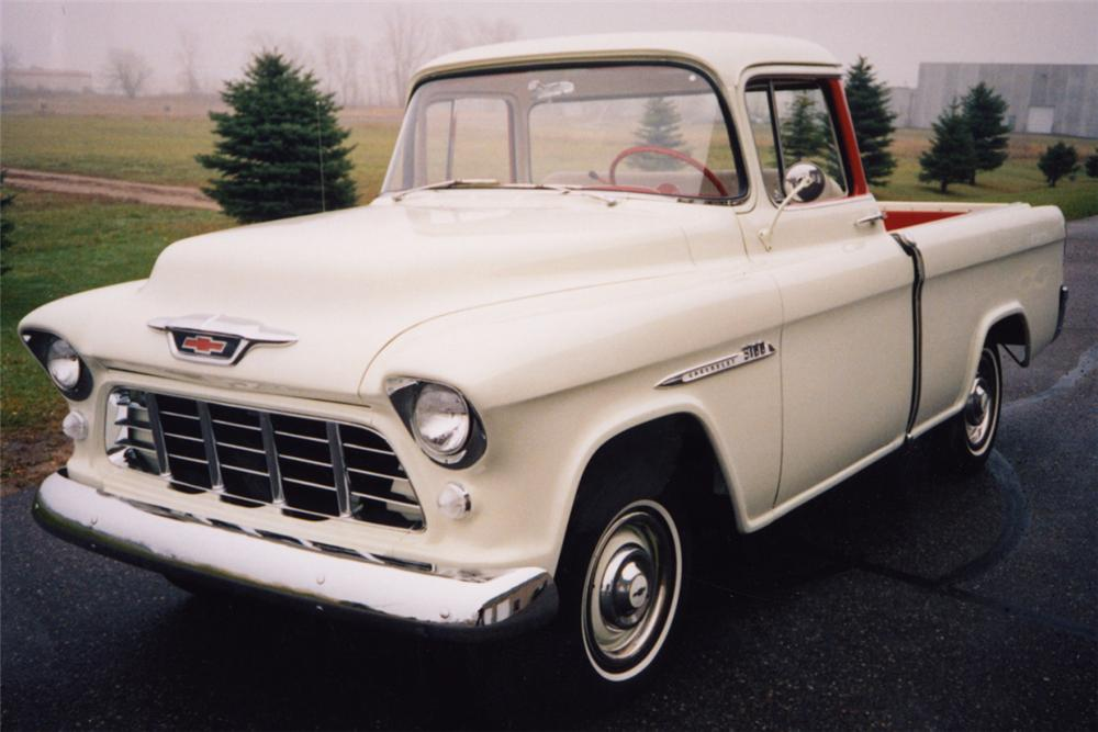 1955 CHEVROLET CAMEO PICKUP - Front 3/4 - 24203