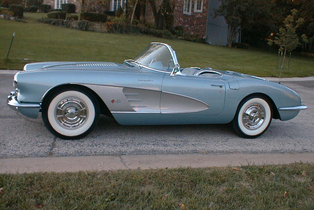1958 CHEVROLET CORVETTE FI CONVERTIBLE - Side Profile - 24303