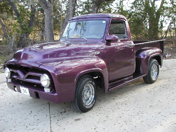 1955 FORD F-100 CUSTOM PICKUP - Front 3/4 - 24355