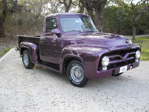 1955 FORD F-100 CUSTOM PICKUP - Side Profile - 24356