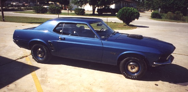 1969 FORD MUSTANG 428 SCJ 'R' DRAG PACK COUPE - 243741969 Mustang Coupe Blue
