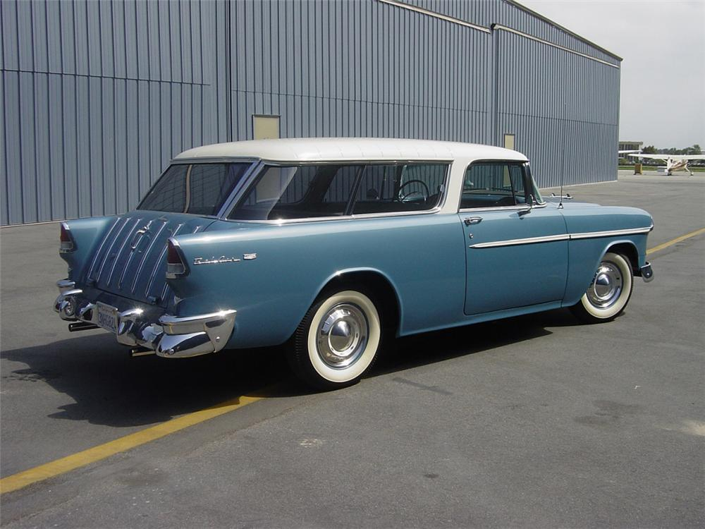 1955 CHEVROLET NOMAD 2 DOOR STATION WAGON - Front 3/4 - 24456