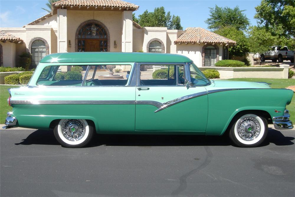 1956 FORD 2 DOOR STATION WAGON - Side Profile - 24507