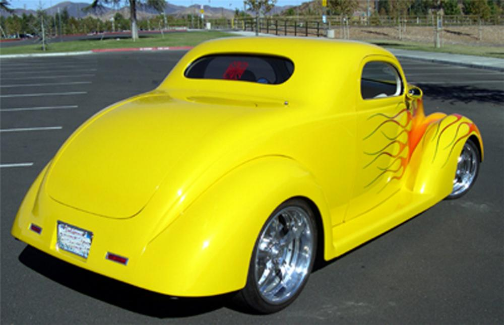 1937 FORD COUPE - Rear 3/4 - 24510