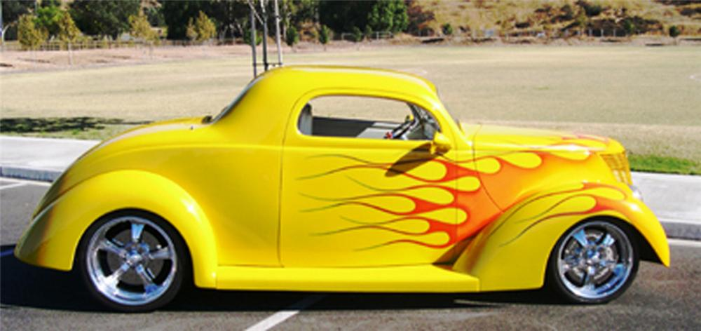 1937 FORD COUPE - Side Profile - 24510