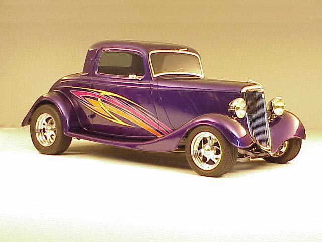 1933 FORD 3 WINDOW CUSTOM COUPE - Front 3/4 - 24626