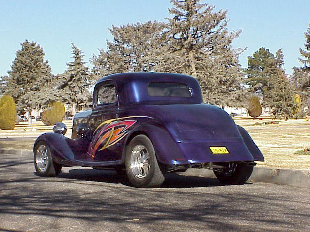 1933 FORD 3 WINDOW CUSTOM COUPE - Rear 3/4 - 24626