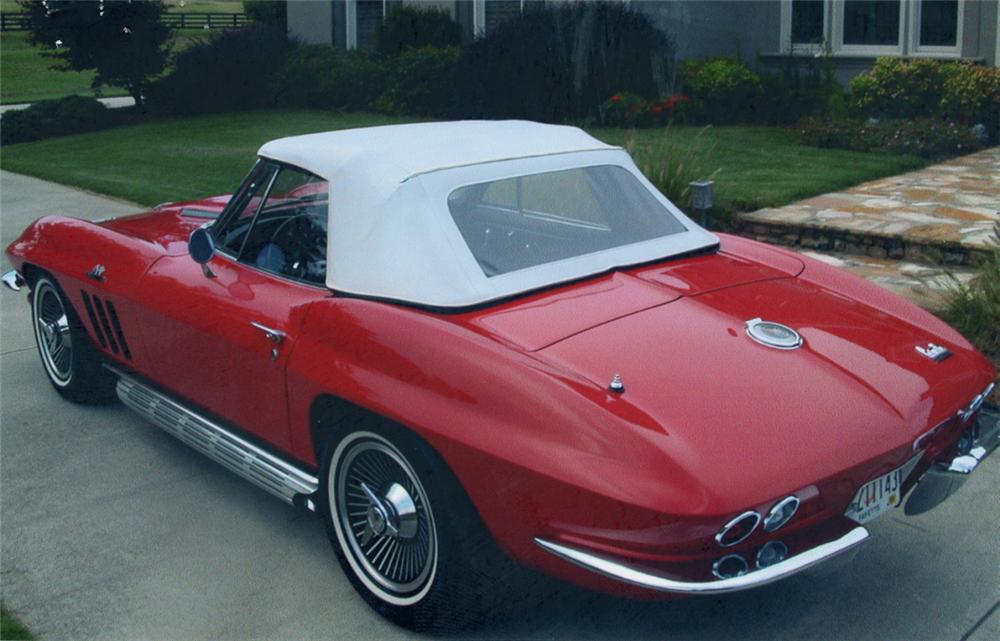 1966 CHEVROLET CORVETTE 427/425 CONVERTIBLE - Rear 3/4 - 39650