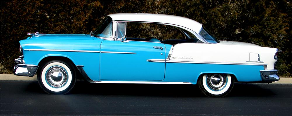1955 CHEVROLET BEL AIR 2 DOOR HARDTOP - Side Profile - 39653