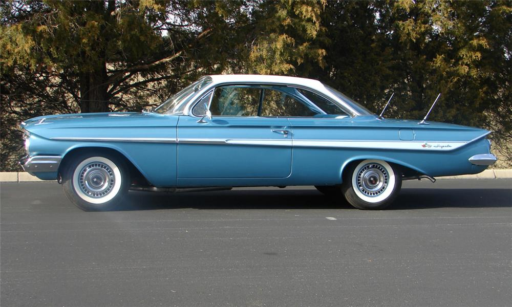 1961 CHEVROLET IMPALA 2 DOOR HARDTOP - Side Profile - 39654