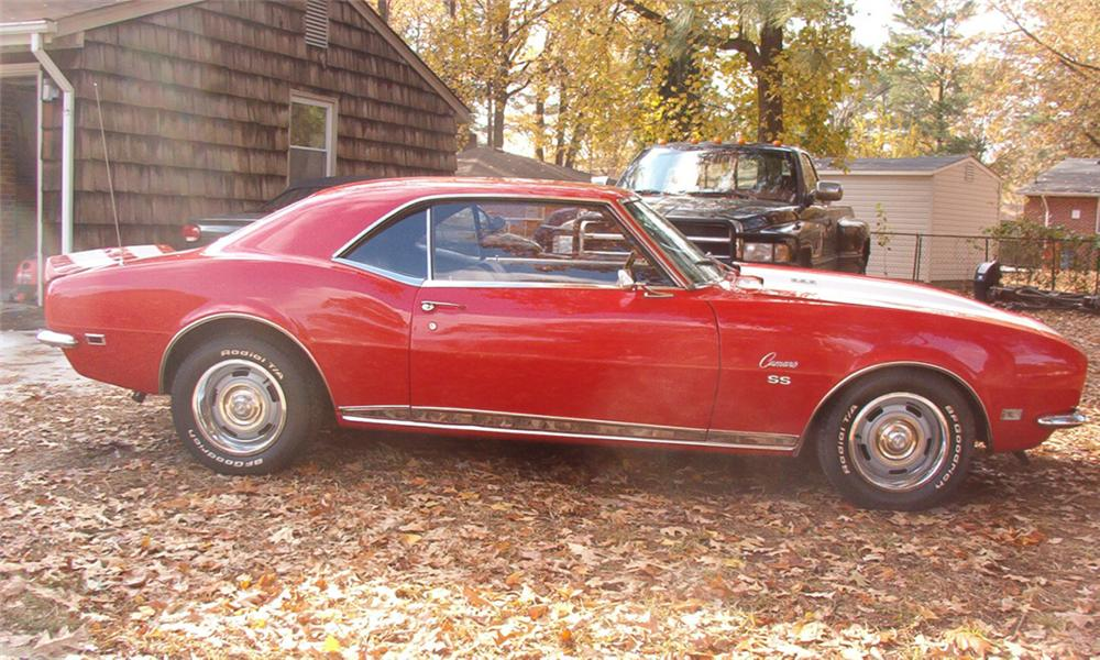 1968 CHEVROLET CAMARO RS/SS COUPE - Side Profile - 39655