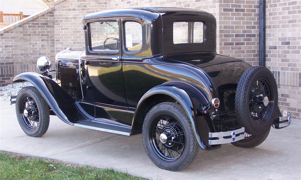 1930 FORD MODEL A COUPE - Rear 3/4 - 39681