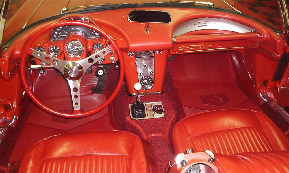 1962 CHEVROLET CORVETTE CONVERTIBLE - Interior - 39684