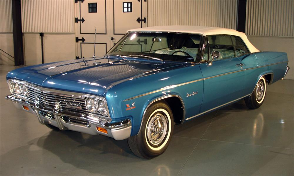 1966 CHEVROLET IMPALA SS CONVERTIBLE - Front 3/4 - 39686