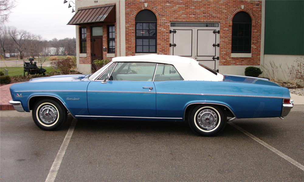 1966 CHEVROLET IMPALA SS CONVERTIBLE - Side Profile - 39686