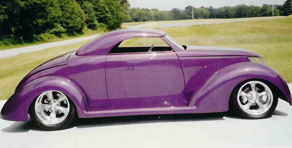 1937 FORD CUSTOM ROADSTER - Side Profile - 39691