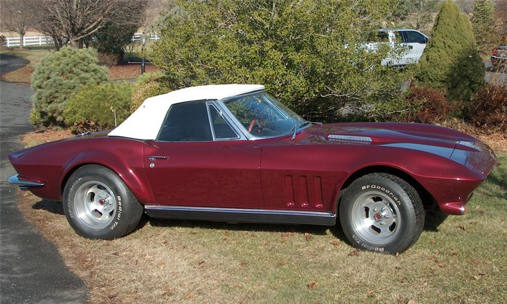 1966 CHEVROLET CORVETTE 327 CONVERTIBLE - Side Profile - 39704