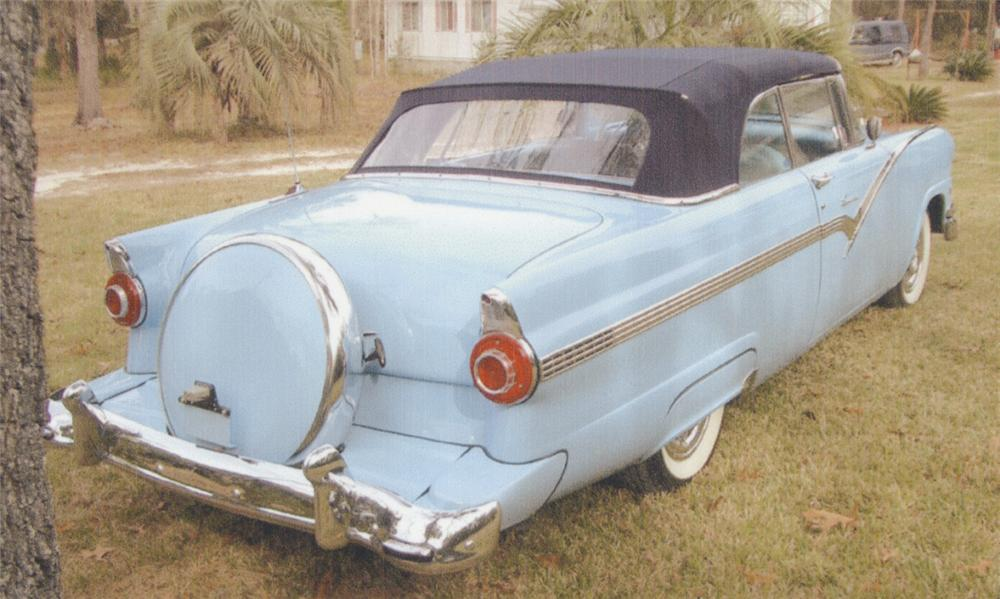 1956 FORD SUNLINER CONVERTIBLE - Rear 3/4 - 39710