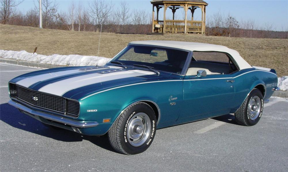 1968 CHEVROLET CAMARO RS CONVERTIBLE - Front 3/4 - 39714