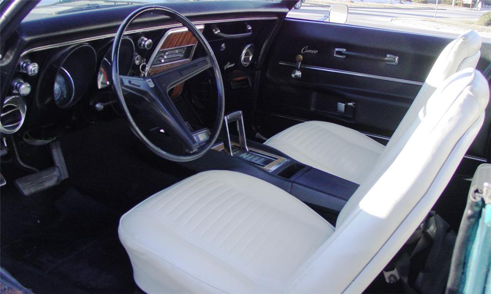 1968 CHEVROLET CAMARO RS CONVERTIBLE - Interior - 39714