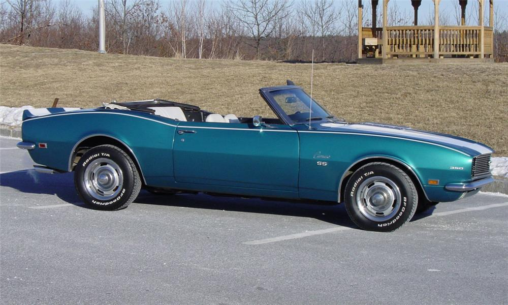 1968 CHEVROLET CAMARO RS CONVERTIBLE - Side Profile - 39714