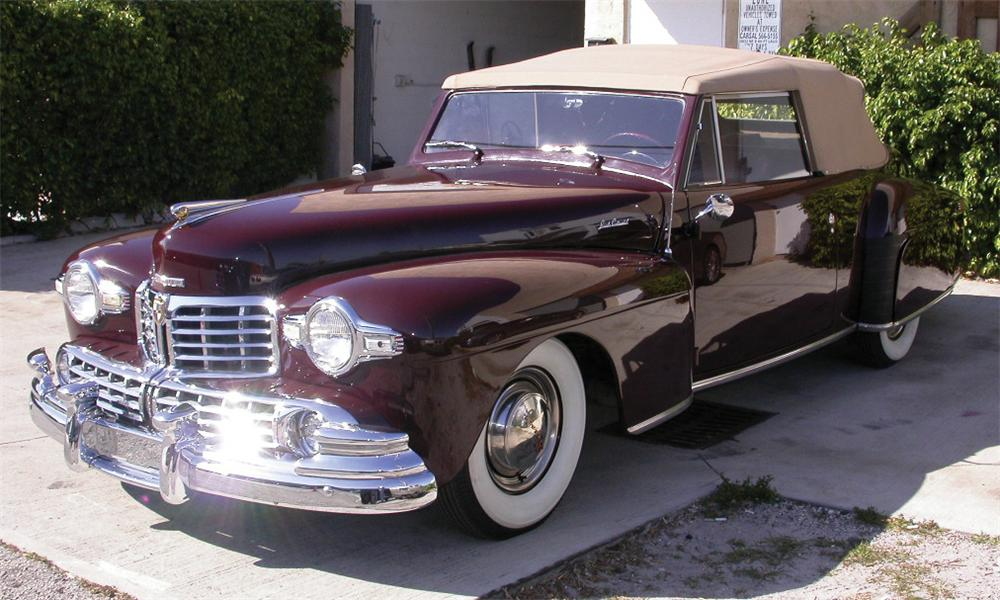 1948 LINCOLN CONTINENTAL CONVERTIBLE - Front 3/4 - 39716