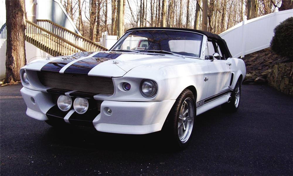 1968 FORD MUSTANG CONVERTIBLE ELEANOR RE-CREATION - Front 3/4 - 39725