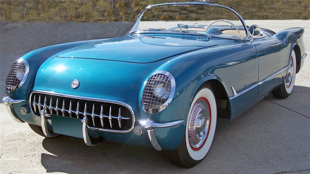 1954 CHEVROLET CORVETTE CONVERTIBLE - Front 3/4 - 39728