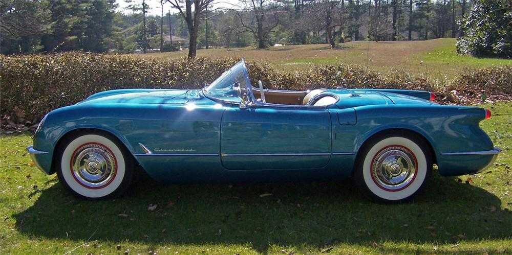1954 CHEVROLET CORVETTE CONVERTIBLE - Side Profile - 39728