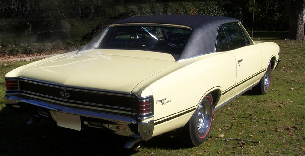 1967 CHEVROLET CHEVELLE SS 2 DOOR HARDTOP - Rear 3/4 - 39730