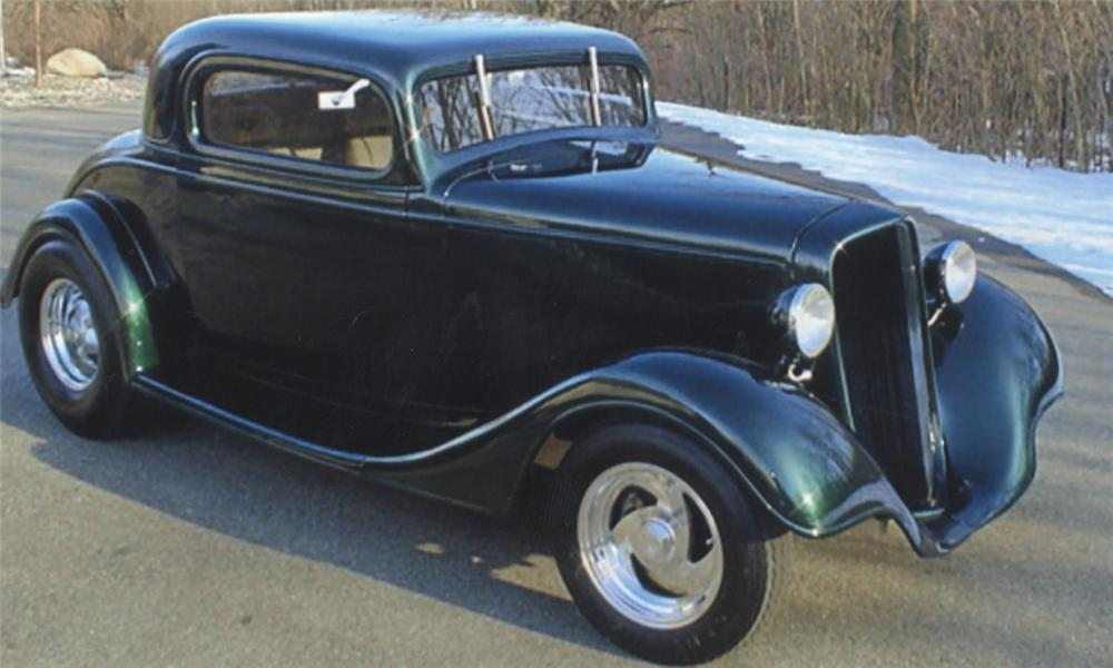 1935 CHEVROLET 3 WINDOW PRO-STREET COUPE - Front 3/4 - 39767