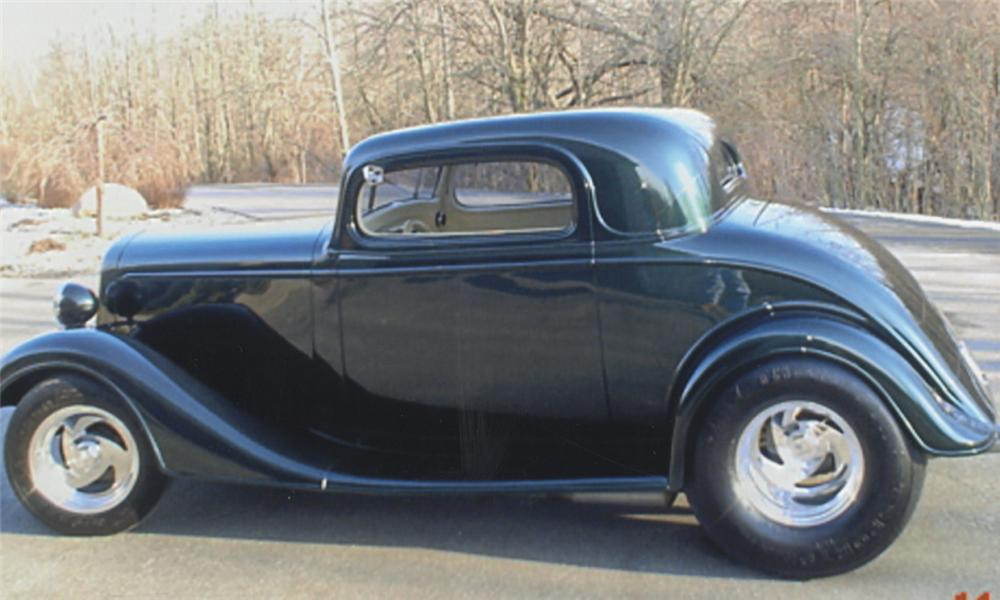 1935 CHEVROLET 3 WINDOW PRO-STREET COUPE - Side Profile - 39767