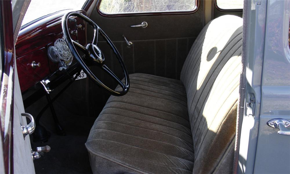 1936 PLYMOUTH 4 DOOR SEDAN - Interior - 39784