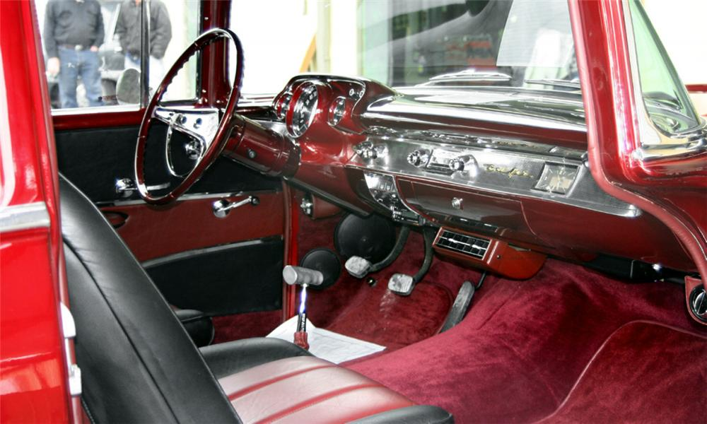 1957 CHEVROLET BEL AIR CUSTOM 2 DOOR POST - Interior - 39785