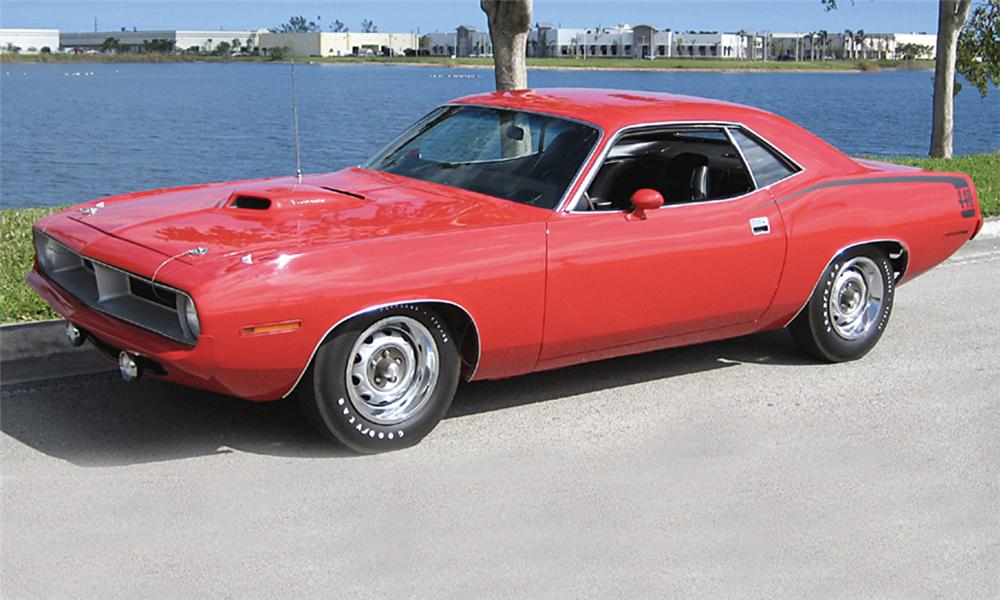 1970 PLYMOUTH CUDA COUPE - Front 3/4 - 39820