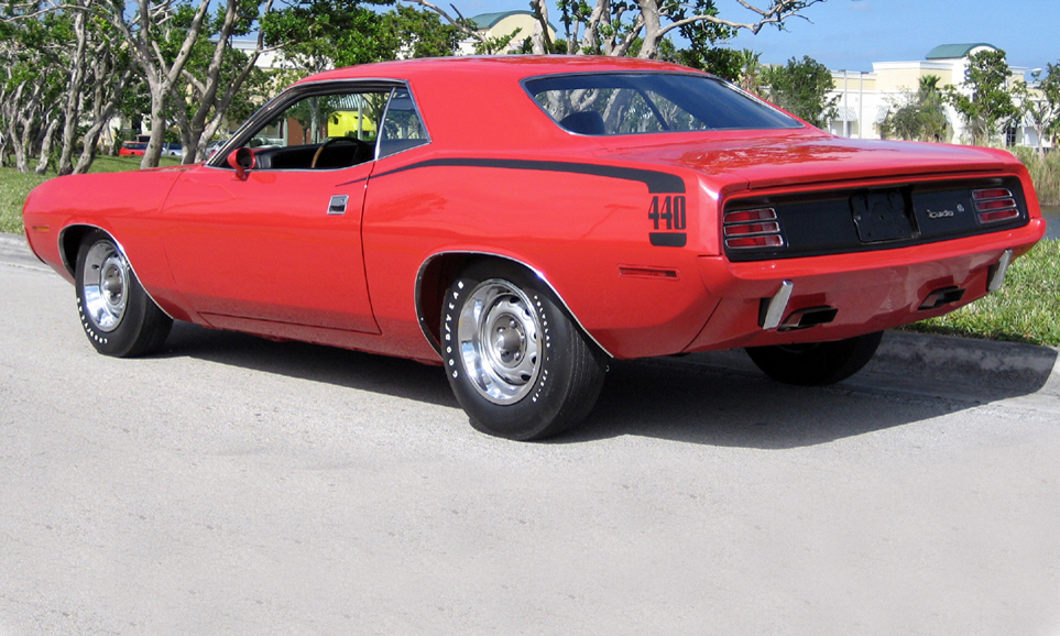 1970 PLYMOUTH CUDA COUPE - Rear 3/4 - 39820