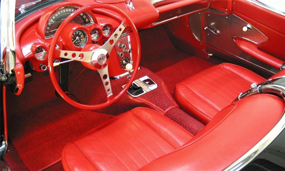 1960 CHEVROLET CORVETTE FI CONVERTIBLE - Interior - 39828