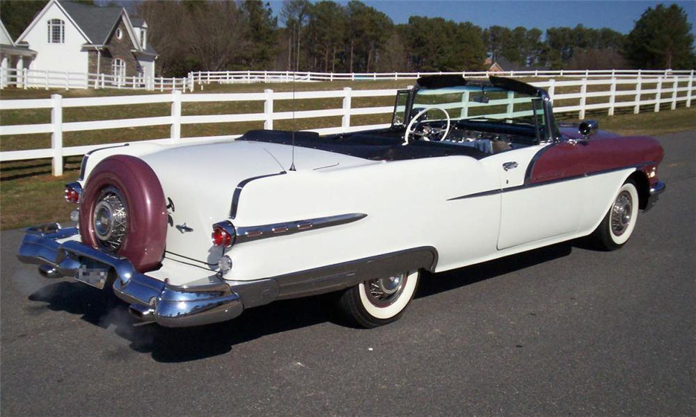1956 PONTIAC STAR CHIEF CONVERTIBLE - Rear 3/4 - 39829