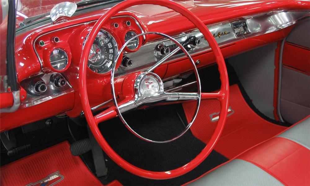 1957 CHEVROLET BEL AIR CONVERTIBLE - Interior - 39833