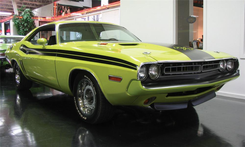 1971 DODGE CHALLENGER R/T COUPE - Front 3/4 - 39836