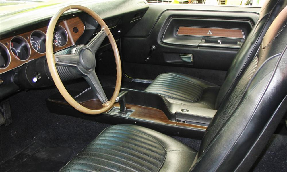 1971 DODGE CHALLENGER R/T COUPE - Interior - 39836