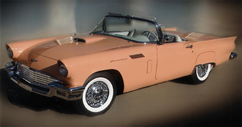 1957 FORD THUNDERBIRD CONVERTIBLE - Front 3/4 - 39839