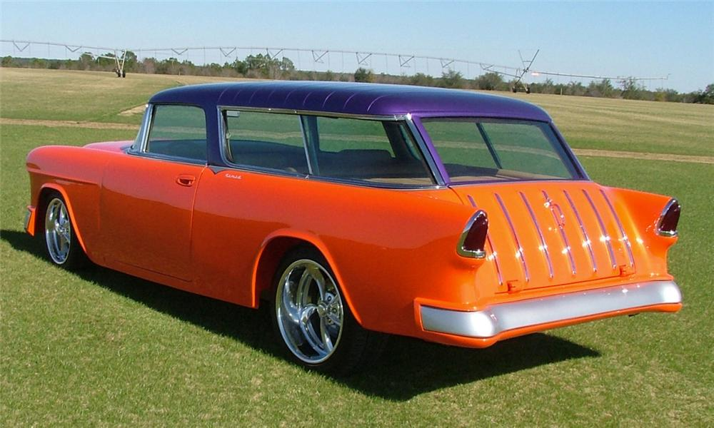 1955 CHEVROLET NOMAD CUSTOM STATION WAGON - Rear 3/4 - 39843