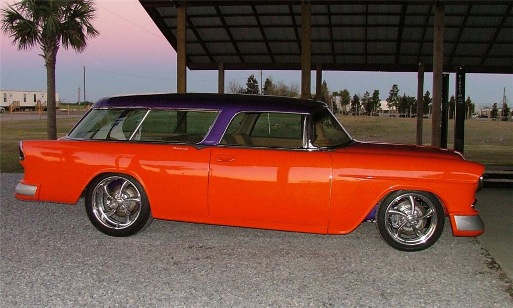 1955 CHEVROLET NOMAD CUSTOM STATION WAGON - Side Profile - 39843